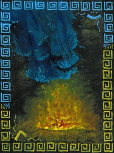 Fire & Water - Original Fantasy & Whimsical Art by Bart Castle