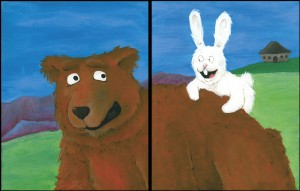 The Bear & The Bunny - Original Fantasy & Whimsical Art by Bart Castle