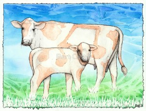 Asheville Moo-sic - Original Music Art by Bart Castle