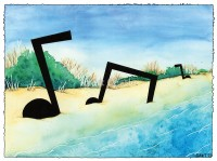 Outer Banks Notes - Original Music Art by Bart Castle