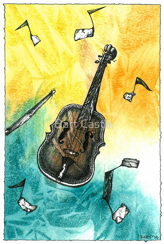 Fiddle Notes - Original Music & Musical Instrument Art by Bart Castle