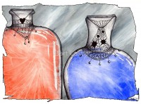 Life and Mana Potions - Original Fantasy Art by Bart Castle - bartcastle.com