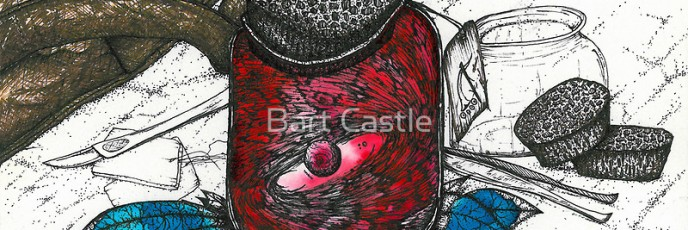 Specimen 1a - Ink on Watercolor - Original Fantasy Art by Bart Castle