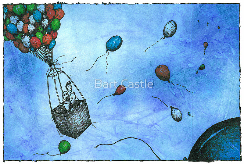 Up and Away - Original Fantasy & Whimsical Art by Bart Castle